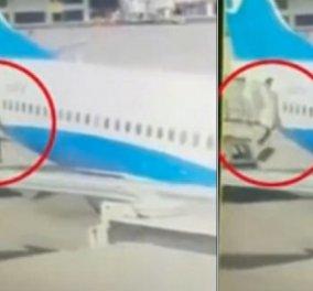 Βίντεο - viral: Η στιγμή που η αεροσυνοδός πέφτει από το αεροπλάνο μετά την προσγείωση - Κυρίως Φωτογραφία - Gallery - Video