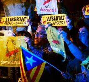 Έκρυθμη η κατάσταση στην Καταλονία εν αναμονή του εντάλματος σύλληψης του Πουϊτζντεμόν - Κυρίως Φωτογραφία - Gallery - Video