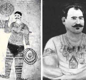 Συναρπαστικό Vintage Story: O Παναγής Κουταλιανός, ο δυνατότερος άνθρωπος στον κόσμο - λύγιζε σίδερα δάμαζε άγρια θηρία! (ΦΩΤΟ) - Κυρίως Φωτογραφία - Gallery - Video