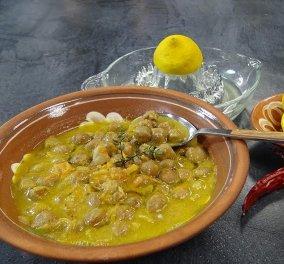 Παραδοσιακή σούπα ρεβύθια με λεμόνι και ταχίνι - Ένα μοναδικό πιάτο με όσπρια από την Αργυρώ μας - Κυρίως Φωτογραφία - Gallery - Video