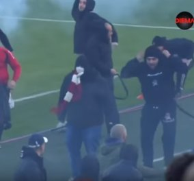 Βίντεο: Άγριο ξύλο μεταξύ φιλάθλων στον ποδοσφαιρικό αγώνα μεταξύ κορυφαίων ομάδων  - Κυρίως Φωτογραφία - Gallery - Video
