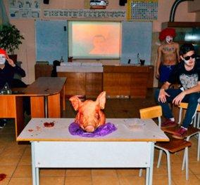Το αισχρό πάρτι των μαθητών που οδήγησε στη φυλακή τους καθηγητές σχολείου της Ρωσίας - Αλκοόλ- σύριγγες - κεφάλι χοίρου (ΦΩΤΟ-ΒΙΝΤΕΟ)   - Κυρίως Φωτογραφία - Gallery - Video