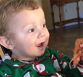 Smile Βίντεο: Ένας μπόμπιρας δοκιμάζει για πρώτη φορά μπέικον - Η αντίδραση του είναι ξεκαρδιστική! - Κυρίως Φωτογραφία - Gallery - Video