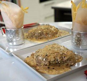 Ο αγαπημένος Βαγγέλης Δρίσκας μάς βάζει στην κουζίνα και μας... κολάζει με υπέροχο πιπεράτο φιλέτο! - Κυρίως Φωτογραφία - Gallery - Video