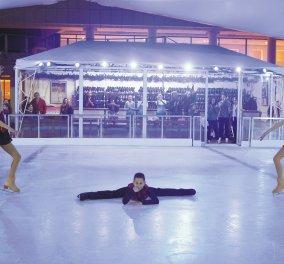 Το πιο γιορτινό παγοδρόμιο της πόλης βρίσκεται στο Μέγαρο - Κυρίως Φωτογραφία - Gallery - Video