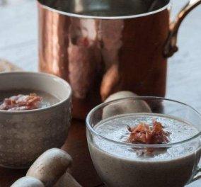 Σούπα βελουτέ με μανιτάρια - Ιδανική για τα γιορτινά τραπέζια-  με συνταγή του Άκη Πετρετζίκη - Κυρίως Φωτογραφία - Gallery - Video