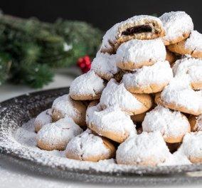 Αχ πότε θα έρθουν τα Χριστούγεννα; Ανυπομονώ να δοκιμάσω - Κουραμπιέδες γεμιστοί με σοκολάτα από τον Άκη - Κυρίως Φωτογραφία - Gallery - Video