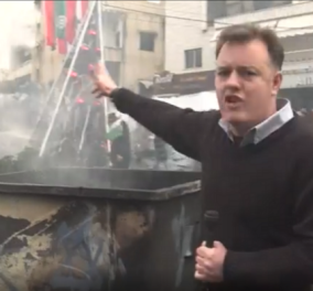 Βίντεο: Η στιγμή που ο ρεπόρτερ πάει να ξεφύγει από δακρυγόνα στη φλεγόμενη Βηρυτό - Κυρίως Φωτογραφία - Gallery - Video