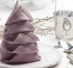 Μεταμορφώστε την πετσέτα σας στο πιο όμορφο χριστουγεννιάτικο δεντράκι για το τραπέζι (BINTEO) - Κυρίως Φωτογραφία - Gallery - Video