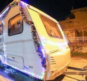 Made in Greece ιδέα στα Τρίκαλα: Ενοικιάζεται τροχόσπιτο στολισμένο σαν Χριστουγεννιάτικο σπιτάκι (ΦΩΤΟ) - Κυρίως Φωτογραφία - Gallery - Video