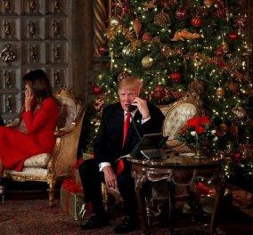 Ο πρόεδρος Τραμπ & η καλλονή Μελάνια πέρασαν τα Χριστούγεννα σε φιλανθρωπική εκδήλωση... μιλώντας στα τηλέφωνα (ΦΩΤΟ) - Κυρίως Φωτογραφία - Gallery - Video