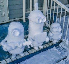Χιονάνθρωποι με… άλλες μορφές: Πρωτόγνωρος παγετώνας στην καρδιά του Τόκιο - ΦΩΤΟ - Κυρίως Φωτογραφία - Gallery - Video