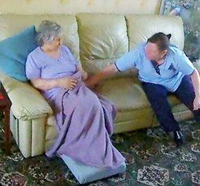 Βίντεο : Βλέπει την άρρωστη μητέρα της από κρυφή κάμερα να την χαστουκίζει η γυναίκα που την προσέχει  - Κυρίως Φωτογραφία - Gallery - Video