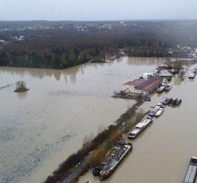 Βίντεο: Εντυπωσιακές εικόνες από τις πλημμύρες στο Σηκουάνα και στον Μάρνη τραβηγμένες από ψηλά με Drone - Κυρίως Φωτογραφία - Gallery - Video