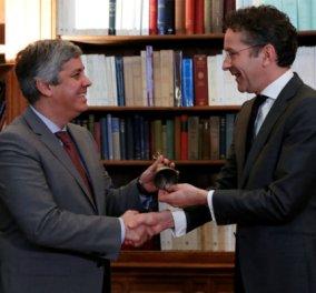 O Ντάισελμπλουμ έδωσε το καμπανάκι του Eurogroup στον Σεντένο (ΦΩΤΟ - ΒΙΝΤΕΟ) - Κυρίως Φωτογραφία - Gallery - Video