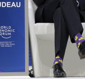 Ο Τζαστίν Τριντό έκλεψε την παράσταση στο Νταβός - Πως; Με τα ...δικά του λόγια και τις δικές του κάλτσες (ΦΩΤΟ) - Κυρίως Φωτογραφία - Gallery - Video
