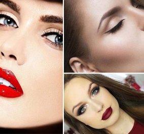 Χειλάκι πετροκέρασο - 36 ιδέες για μακιγιάζ με  κατακόκκινα χείλη ανάλογα με το χρώμα των μαλλιών σας (ΦΩΤΟ) - Κυρίως Φωτογραφία - Gallery - Video