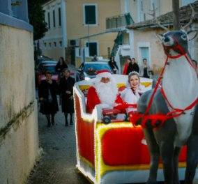 Γάμος σαν παραμύθι στην Κεφαλονιά! Η νύφη έφτασε στην εκκλησία με έλκηθρο, ταράνδους & τον... Άη Βασίλη (ΦΩΤΟ) - Κυρίως Φωτογραφία - Gallery - Video