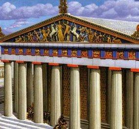 "Good news: Το BBC υμνεί την ελληνική Τέχνη - ""Έτσι θα ήταν με χρώματα ο Παρθενώνας στον Χρυσό Αιώνα"" - Κυρίως Φωτογραφία - Gallery - Video"