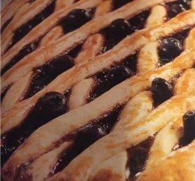 Πεντανόστιμη πάστα φλώρα με μύρτιλα από την εκπληκτική Μαρία Εκμεκτσίογλου - Κυρίως Φωτογραφία - Gallery - Video