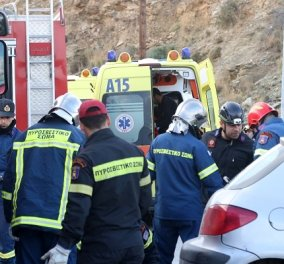 Τραγωδία στην εθνική οδό Ρεθύμνου - Ηρακλείου από τροχαίο: Τρεις νεκροί & τέσσερις τραυματίες - ΦΩΤΟ - Κυρίως Φωτογραφία - Gallery - Video