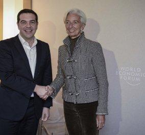 """Κριστίν Λαγκάρντ - Αλέξης Τσίπρα: """"Συμφωνήσαμε να δουλέψουμε μαζί για την ελάφρυνση του χρέους""""   - Κυρίως Φωτογραφία - Gallery - Video"""