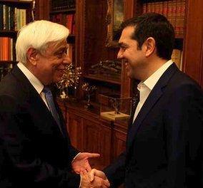 Τσίπρας - Παυλόπουλος: Ενιαία γραμμή για την ονομασία της ΠΓΔΜ- Ενημέρωση των πολιτικών αρχηγών σήμερα από τον πρωθυπουργό (ΒΙΝΤΕΟ) - Κυρίως Φωτογραφία - Gallery - Video