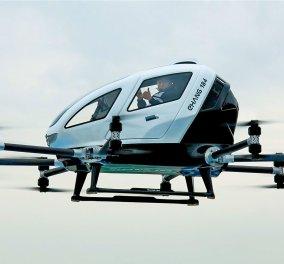 Απίστευτο! Το κινέζικο drone Ehang έκανε την πρώτη του πτήση με επιβάτες (ΒΙΝΤΕΟ)  - Κυρίως Φωτογραφία - Gallery - Video