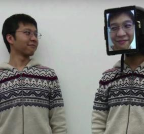 Αυτή η μάσκα - οθόνη σου επιτρέπει να 'δανείζεις' το πρόσωπο σου σε άλλο σώμα   - Κυρίως Φωτογραφία - Gallery - Video