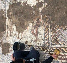 Υπέροχα κλικς από το Ισραήλ: Σπάνιο μωσαϊκό 1.800 ετών με αρχαιοελληνική επιγραφή (ΦΩΤΟ) - Κυρίως Φωτογραφία - Gallery - Video