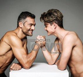 Ο Μιχαήλ Άγγελος & ο Άρης είναι οι δύο καλλονοί γιοι του Στέλιου Κρητικού - Σέξι φωτογράφηση πριν το Survivor  - Κυρίως Φωτογραφία - Gallery - Video