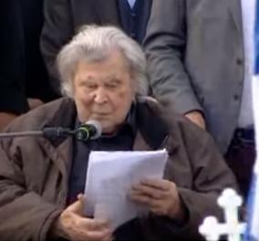 Μίκης Θεοδωράκης: Η συγκλονιστική ομιλία του σπουδαίου μουσικοσυνθέτη στο συλλαλητήριο για το Μακεδονικό (ΒΙΝΤΕΟ) - Κυρίως Φωτογραφία - Gallery - Video