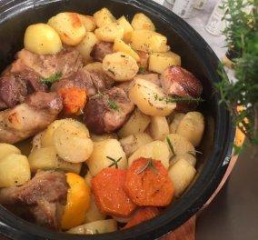 Πεντανόστιμο μαριναρισμένο χοιρινό στη γάστρα με εσπεριδοειδή και πατάτες από την μοναδική Αργυρώ μας!  - Κυρίως Φωτογραφία - Gallery - Video