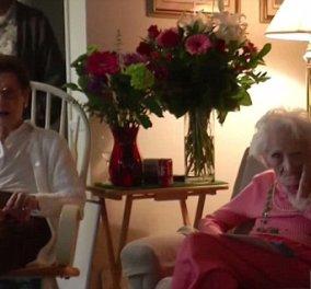 Top women δύο φίλες: Γιόρτασαν τα 100 χρόνια τους! Η μια πίνει τις μπύρες, τρώει - Η άλλη υπεραισιόδοξη  - Κυρίως Φωτογραφία - Gallery - Video