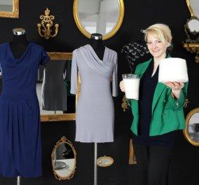 Top Woman η σχεδιάστρια μόδας Άνκε Ντόμασκε: Φτιάχνει ρούχα από ληγμένο γάλα (ΦΩΤΟ - ΒΙΝΤΕΟ) - Κυρίως Φωτογραφία - Gallery - Video