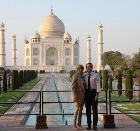 Εμμανουέλ Μακρόν: Ρομαντική απόδραση με την σύζυγό του, Μπριζίτ, στο Ταζ Μαχάλ (ΦΩΤΟ) - Κυρίως Φωτογραφία - Gallery - Video