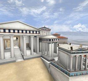 Εκπληκτική εικονική ξενάγηση στην Ακρόπολη του 5ου π.Χ. αι.- Συναρπαστικό ταξίδι από την «ΘΟΛΟ»  - Κυρίως Φωτογραφία - Gallery - Video