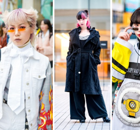 Τα 100 καλύτερα κλικς των Γιαπωνέζων που ντύθηκαν για να πάνε στην Εβδομάδα Μόδας του Τόκιο! (ΦΩΤΟ) - Κυρίως Φωτογραφία - Gallery - Video