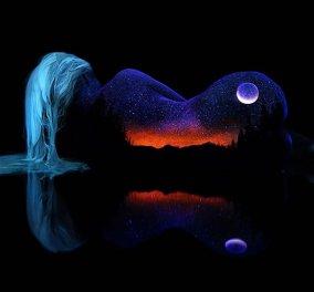 Ονειρικές λήψεις με ζωγραφισμένα σώματα σε μοναδικές γαλαξιακές αποχρώσεις!    - Κυρίως Φωτογραφία - Gallery - Video
