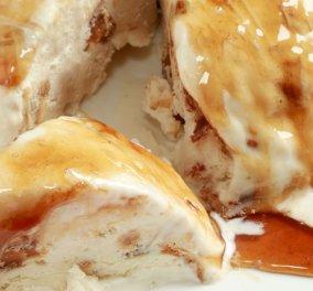 Τούρτα παγωτό τσουρέκι με καραμέλα από την αγαπημένη μας Ντίνα Νικολάου - Κυρίως Φωτογραφία - Gallery - Video