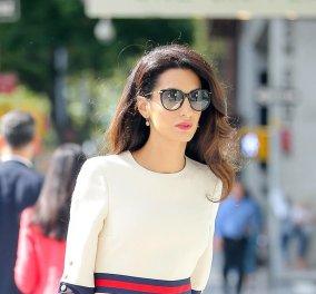 Αμάλ Αλαμουντίν - Κλούνεϊ: Αυτή η γυναίκα ξέρει να ντύνεται αλλά και να φοράει ωραία γυαλιά ηλίου - Δείτε το στυλ   - Κυρίως Φωτογραφία - Gallery - Video