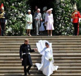 Γάμος Harry & Meghan: To παλάτι έδωσε στη δημοσιότητα το σχέδιο του νυφικού- Τι αντιπροσώπευε το πέπλο  - Κυρίως Φωτογραφία - Gallery - Video