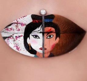 Τα παραμύθια της Disney εμπνέουν την καλλιτέχνιδα Jazmina Daniel: Φτιάχνει ζουμερά χείλη γεμάτα χρώματα! (ΦΩΤΟ)     - Κυρίως Φωτογραφία - Gallery - Video