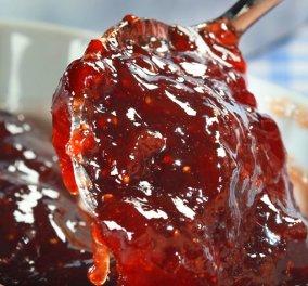 Μαρμελάδα φράουλας με βανίλια από την μοναδική Ντίνα Νικολάου - Κυρίως Φωτογραφία - Gallery - Video