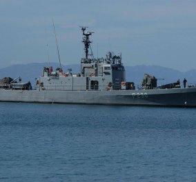 """Τουρκικό εμπορικό πλοίο """"ακούμπησε"""" την ελληνική κανονιοφόρο """"Αρματωλός"""" ανοικτά της Λέσβου - Κυρίως Φωτογραφία - Gallery - Video"""