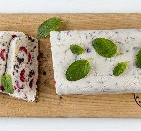 """""""Το ωραίο γλυκό της Κυριακής"""": Κορμός παγωτού με κεράσια από τον Άκη - Κυρίως Φωτογραφία - Gallery - Video"""