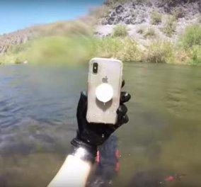 Βούτηξε σε ποταμό στην Αριζόνα και βρήκε iPhone που λειτουργούσε - Το είχε χάσει μια κοπέλα πριν από δύο εβδομάδες (VIDEO) - Κυρίως Φωτογραφία - Gallery - Video