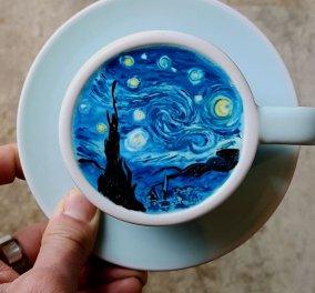 Ο μπαρίστας Lee Kang Bin δημιουργεί απίθανα έργα τέχνης στον αφρό του καφέ που θα σας μαγέψουν! (ΦΩΤΟ)   - Κυρίως Φωτογραφία - Gallery - Video
