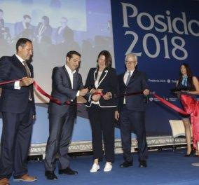 """Τα """"Ποσειδώνια 2018"""" άνοιξαν τους πύλες τους: Ο Πρωθυπουργός εγκαινίασε την έκθεση-ορόσημο για την παγκόσμια ναυτιλία που γιορτάζει την 50η επέτειό της - Κυρίως Φωτογραφία - Gallery - Video"""
