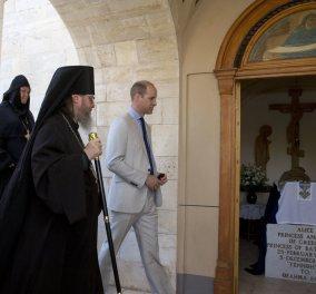 Ο Πρίγκιπας Ουίλιαμ επισκέφθηκε τον τάφο της προγιαγιάς του, Αλίκης - Είχε αναπτύξει δράση κατά των Ναζί σώζοντας Εβραίους (Φωτό) - Κυρίως Φωτογραφία - Gallery - Video